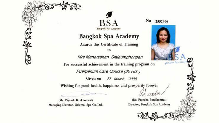 zertifikat-baan-thai-puerperium-care